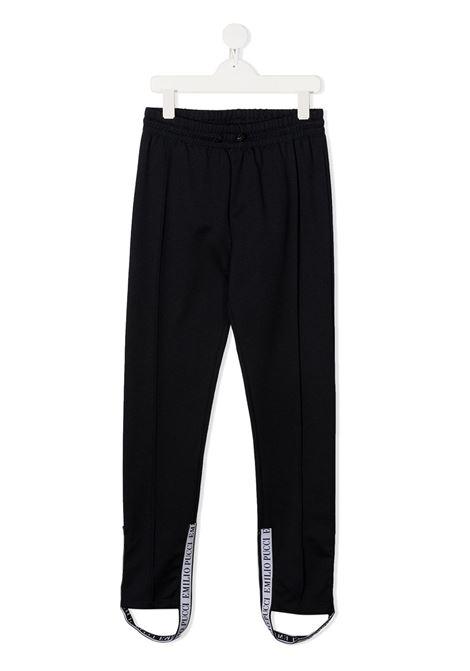 pantaloni jrsey emilio pucci con ghette logate EMILIO PUCCI | Pantalone | 9N6110NC770620AZZT