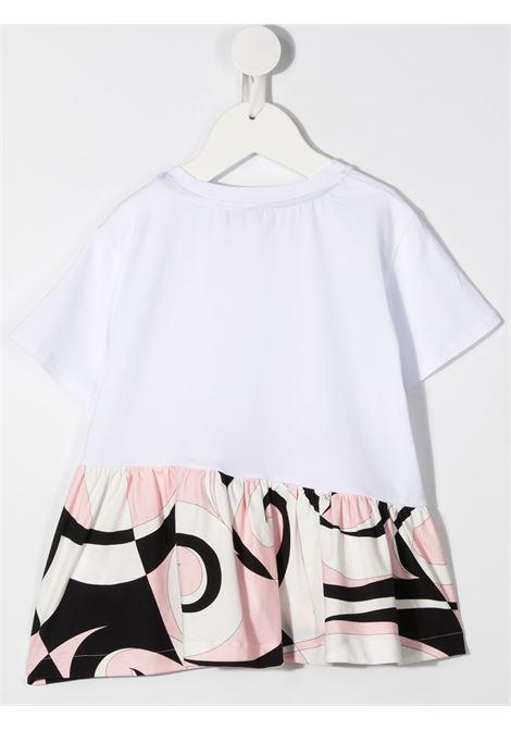tshirt con balza stampata e logo EMILIO PUCCI | T shirt | 9N8021NC470100RS
