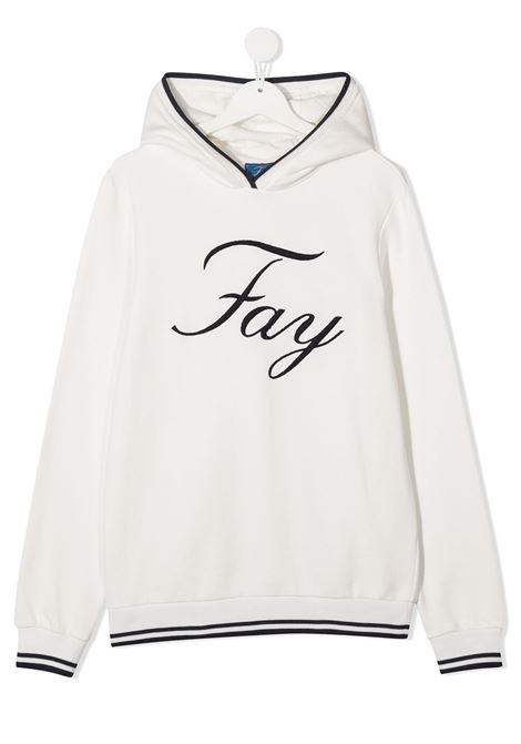 felpa cappuccio fay con scritta logo ricamato FAY   Felpa   5N4030NX040101T
