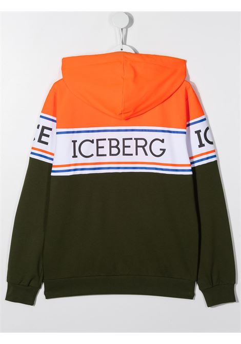 felpa aperta con cappuccio con scritta logo ICEBERG   Felpa   MFICE0302J740T