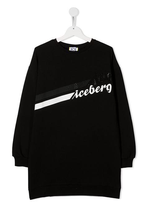 abito in felpa con stampa logo ICEBERG | Abito | VSICE0355J1000T
