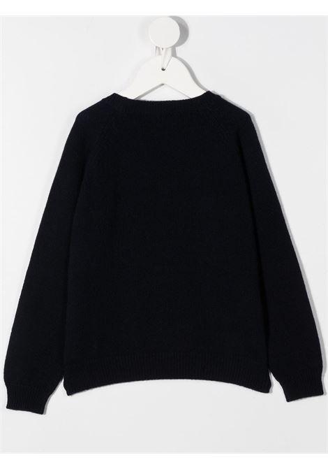 pullover bicolore il gufo con pon pon e strass su corona IL GUFO | Maglia | A20MA318EM2204920