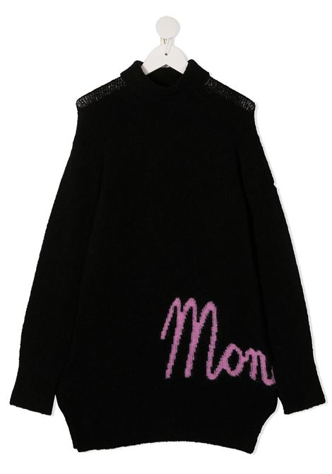 abito in lana con scritta logo laterale moncler MONCLER | Abito | F29549I70410A9475999