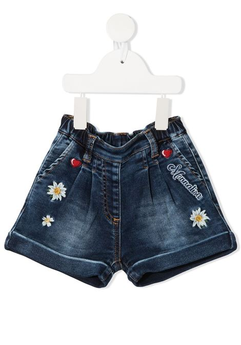 ricamo cuori denim stretch MONNALISA BEBE | Shorts | 396409RC60160055