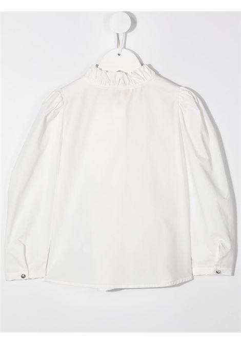 camicia con rouches e manica a sbuffo MONNALISA CHIC | Camicia | 71630261170001