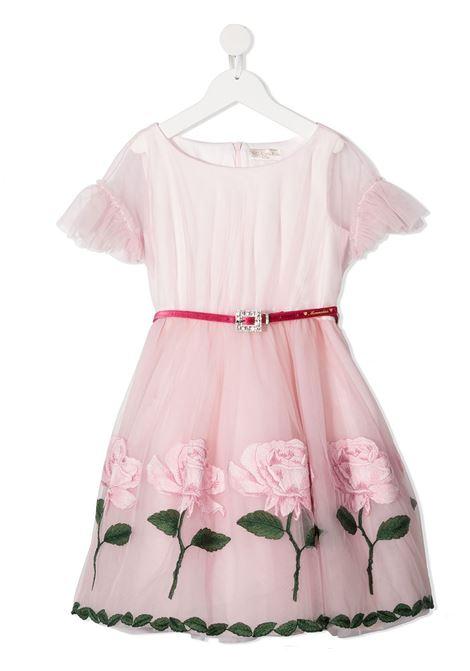 stampa rose broccato ramage MONNALISA CHIC | Abito | 71690666600066
