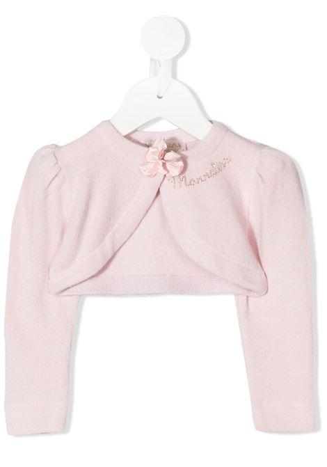 cardigan Monnalisa con rosa applicata MONNALISA CHIC | Cardigan | 736800A262040066