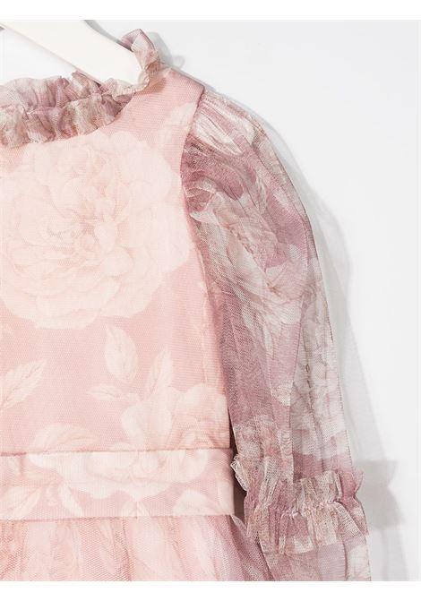 abito lungo in microrete stampa rose MONNALISA CHIC | Abito | 79691160290066