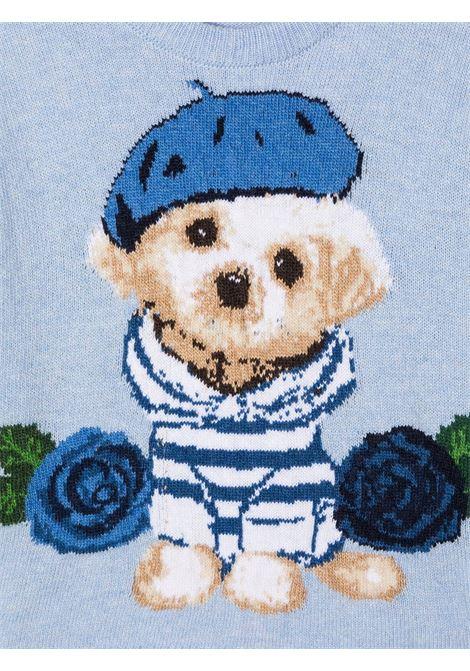 pullover con ricamo dog-rose MONNALISA | Maglia | 19660760275256