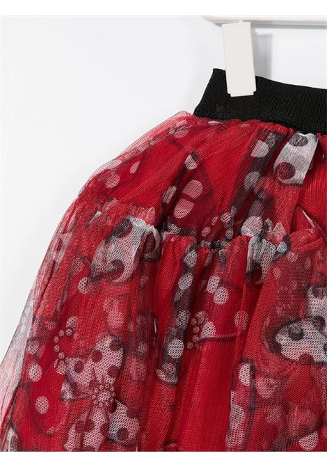 tulle check stampa fiocchi MONNALISA | Gonna | 19670867930050