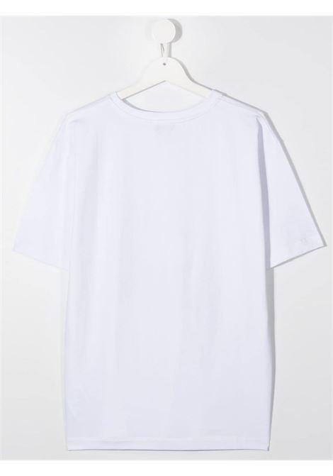 tshirt Moschino con orsetto tablet  e scritta logo MOSCHINO KIDS | T shirt | H7M029LBA1210101T
