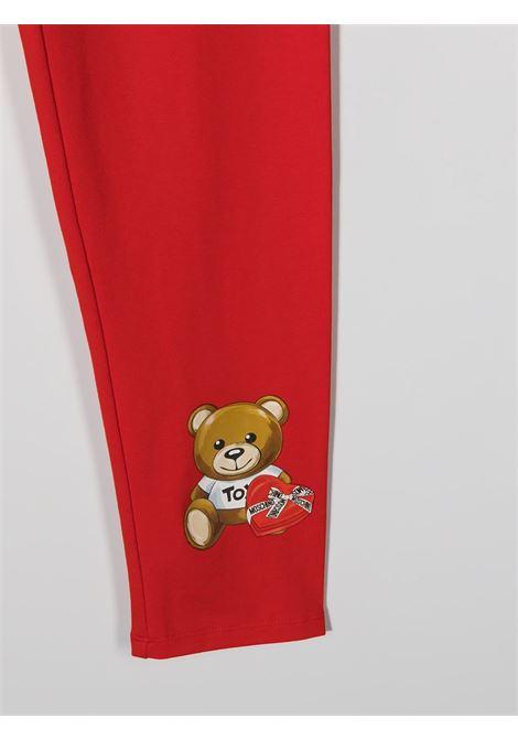 leggins Moschino con orsetto cuore MOSCHINO KIDS | Leggins | HBP03ULBA1150109T
