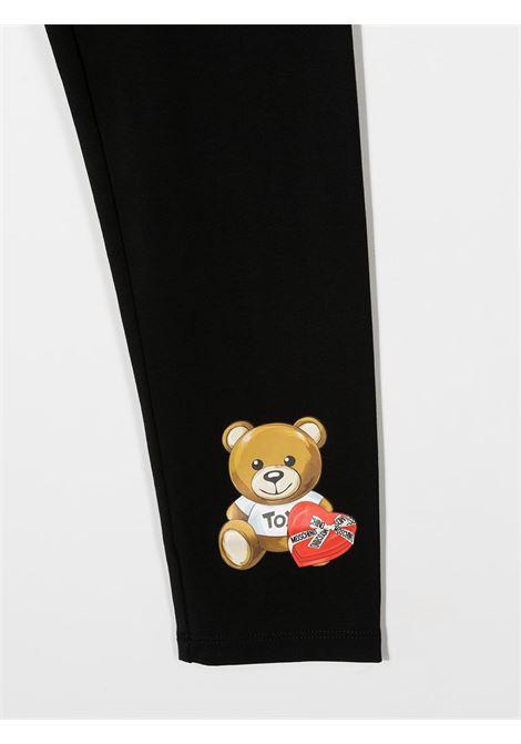 leggins Moschino con orsetto cuore MOSCHINO KIDS | Leggins | HBP03ULBA1160100