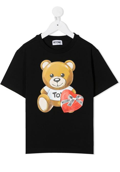 tshirt Moschino con orsetto cuore MOSCHINO KIDS   T shirt   HEM02TLBA1160100