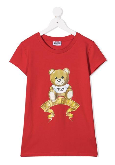 tshirt moschino con orsetto e scritta logo oro MOSCHINO KIDS   T shirt   HIM02OLBA1150109T