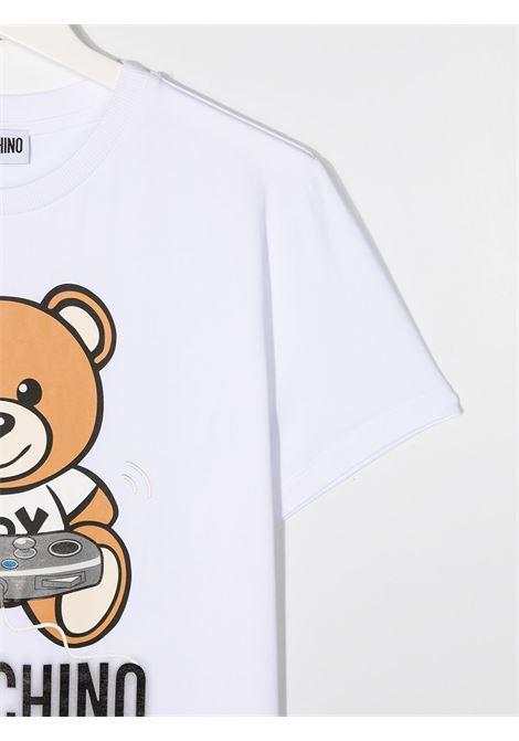 tshirt moschino con orsetto play MOSCHINO KIDS | T shirt | HQM02SLBA1210101T
