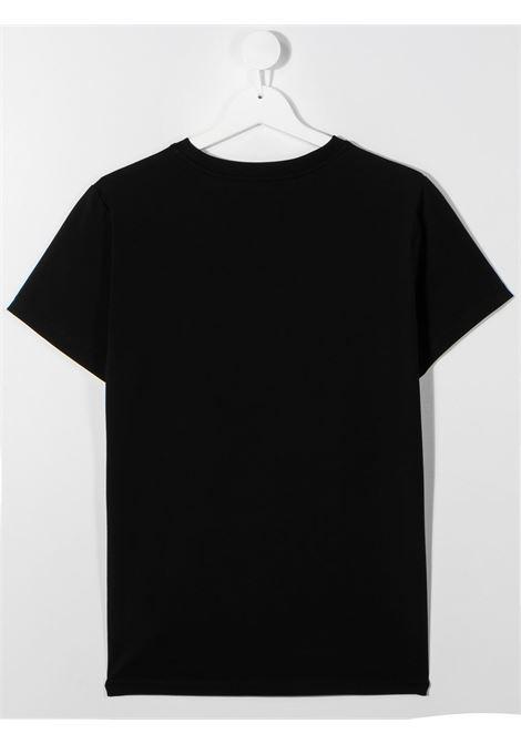 tshirt moschino con orsetto play e scritta logo MOSCHINO KIDS | T shirt | HQM02SLBA1260100T