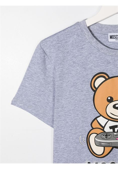 tshirt moschino con orsetto play e scritta logo MOSCHINO KIDS | T shirt | HQM02SLBA1260901T