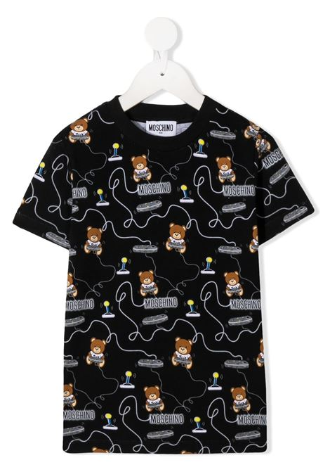 tshirt Moschino con multi orsetto play MOSCHINO KIDS | T shirt | HRM02SLBB3884449