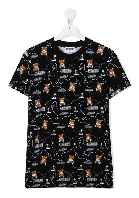 tshirt Moschino con multi orsetto play MOSCHINO KIDS | T shirt | HRM02SLBB3884449T