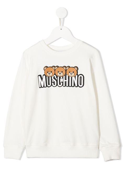 felpa Moschino con orsetti e scritta logo MOSCHINO KIDS | Felpa | HSF039LDA2610063