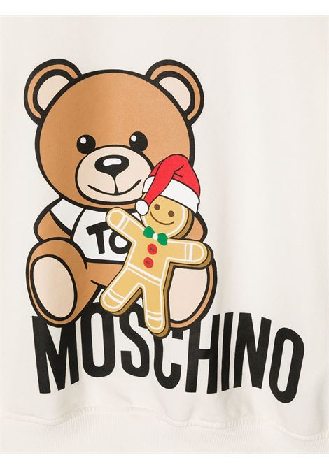 felpa Moschino con orsetto e scritta logo natale MOSCHINO KIDS   Felpa   HTF039LDA2210063