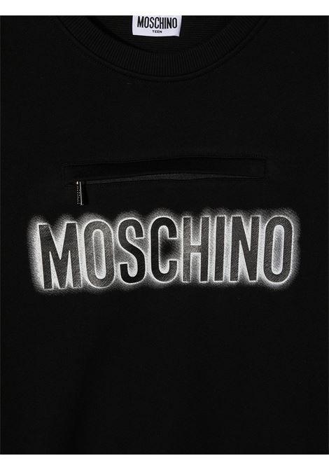 felpa Moschino con scritta logo e orsetto MOSCHINO KIDS | Felpa | HUF041LCA2060100T