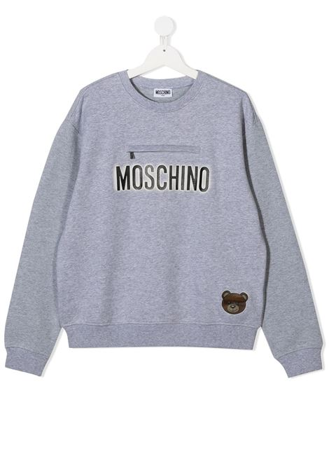 felpa Moschino con scritta logo e orsetto MOSCHINO KIDS | Felpa | HUF041LCA2060901T