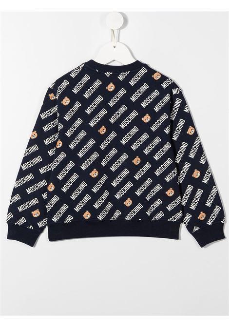 felpa Moschino con multi orsettie e scritta logo MOSCHINO KIDS | Felpa | HUF04FLDB4583235