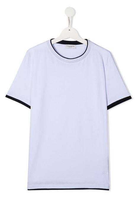 tshirt con doppio colore Paolo pecora | T shirt | PP2433BI/BLT