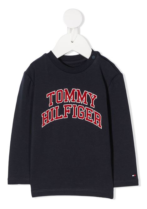 t-shirt tommy hilfiger con scritta logo TOMMY HILFIGER | T shirt | KN0KN01156C87