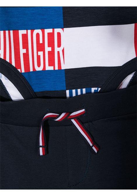 completo con bavaglino tommy hilfiger logato multicolor TOMMY HILFIGER | Gift box | KN0KN01182C87