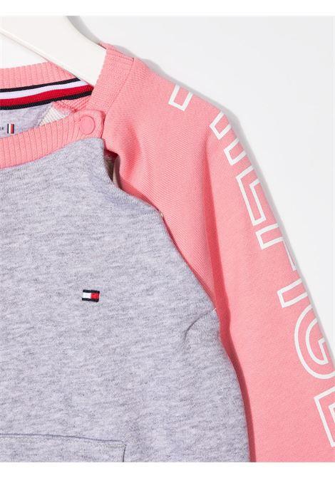 felpa bicolore tommy hilfiger con scritta logo TOMMY HILFIGER | Felpa | KN0KN01191TIB