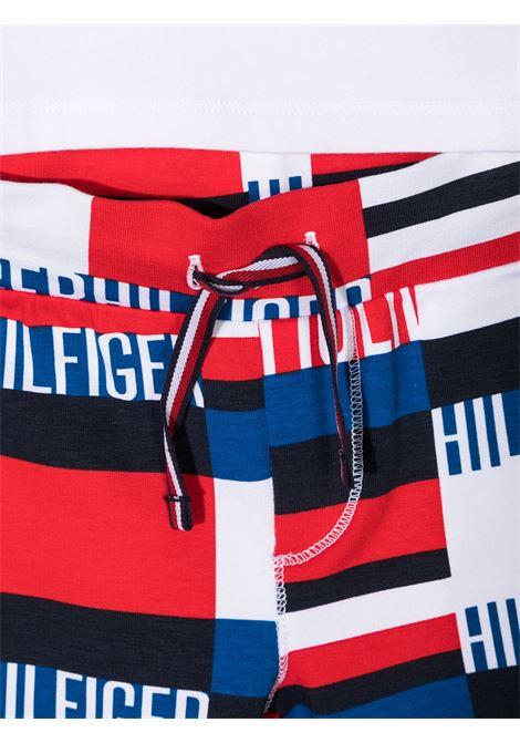t-shirt con pantalone logato tommy hilfiger TOMMY HILFIGER | Completo | KN0KN011990GY