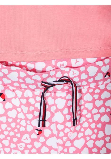 t-shirt con pantalone logato tommy hilfiger TOMMY HILFIGER | Completo | KN0KN011990JV