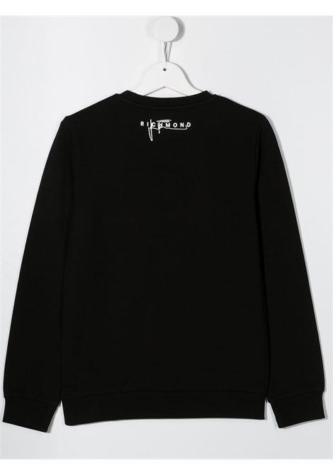 felpa dillingy con stampa logo multicolor john richmond | Felpa | RGA20285FEW0148T