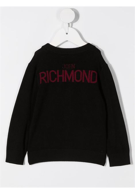 cardigan argo con logo john richmond | Cardigan | RIA20069CDW0148