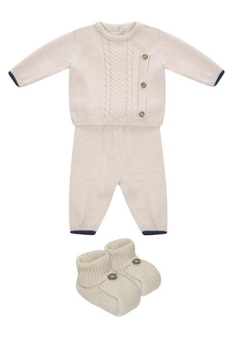 completo in lana marlu' con treccia e profili a contrasto MarLU' | Completo | IP6950NAT/BL