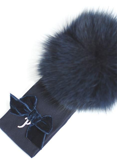 fascia per capelli con pon pon in pelliccia Petit | Fascia capelli | 8514631T400060
