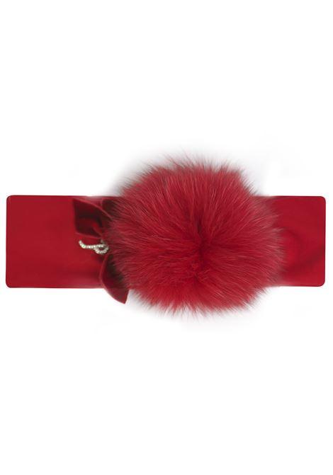 fascia per capelli con pon pon in pelliccia Petit | Fascia capelli | 8514631T400070