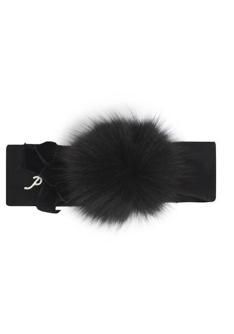 fascia per capelli con pon pon in pelliccia Petit | Fascia capelli | 8514631T400090
