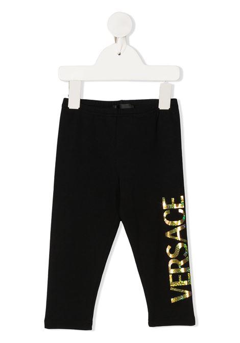 pantalone con scritta logo young versace young versace | Pantalone | YA000169A234592A1008