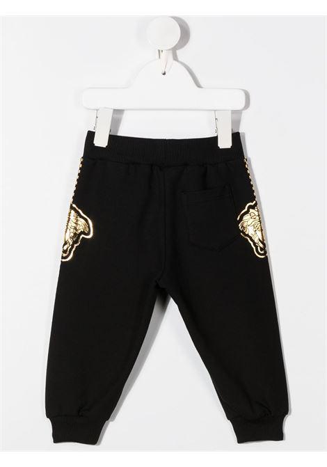 pantalone in felpa con stampa logo laterale young versace young versace | Pantalone | YB000169YA00077A1008