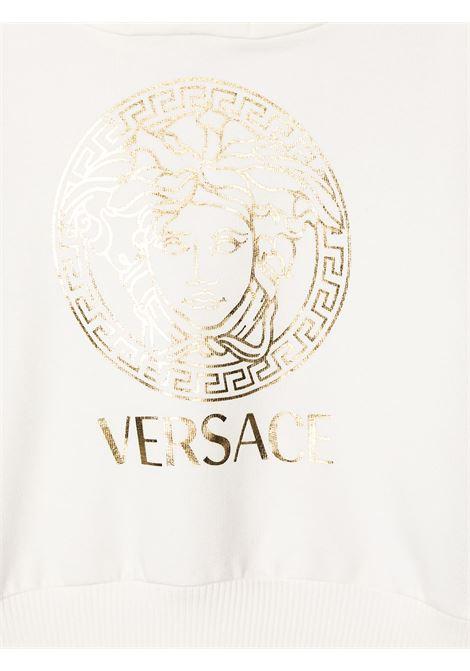 felpa con cappuccio e stampa logo young versace young versace | Felpa | YB000201YA00077A1002