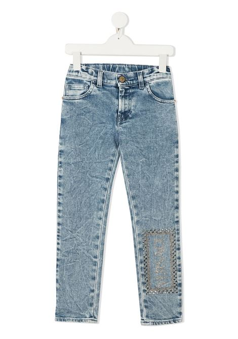 denim young versace con scritta logo laterale young versace | Pantalone | YC000416A236376A8263