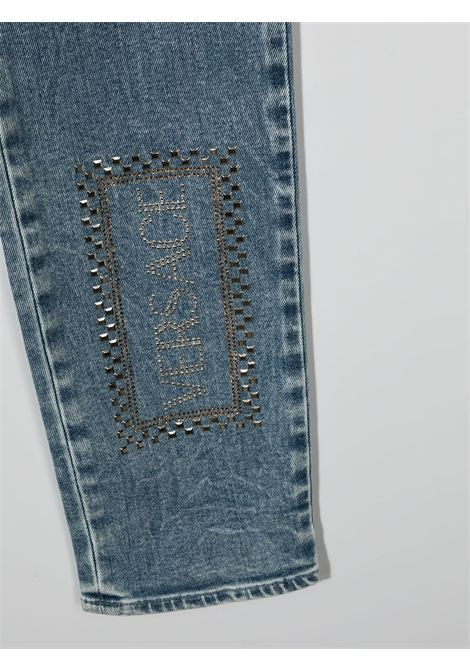 denim young versace con scritta logo laterale young versace | Pantalone | YC000416A236376A8263T