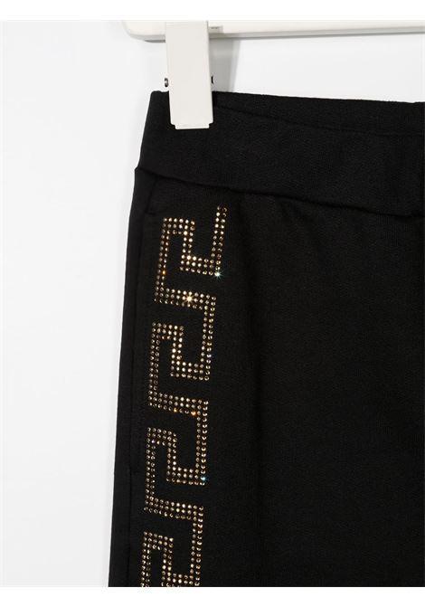 pantalone in felpa young versace con banda laterale logato young versace | Pantalone | YC000418YA00078A1008T