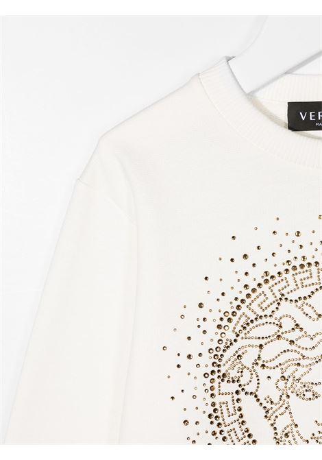 felpa young versace con logo strass young versace | Felpa | YC000422YA00078A1002