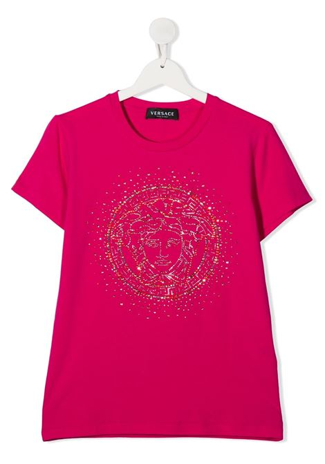 t-shirt young versace logata con borchie young versace | T shirt | YC000430YA00019A1268T