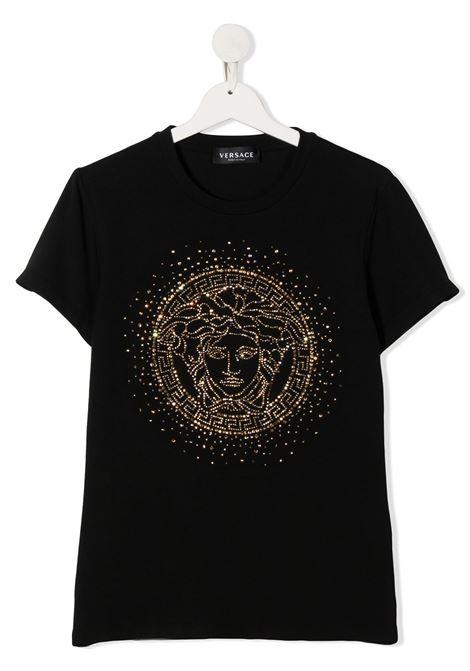 t-shirt logata young versace young versace | T shirt | YC000438YA00019A1008